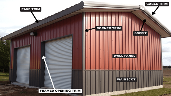 Color Chart For Your Steel Metal Buildings
