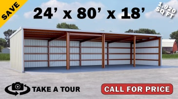 24x80 Hay Storage Metal Building on Sale